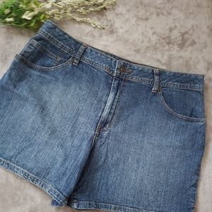St. John's Bay classic denim shorts. Size 16